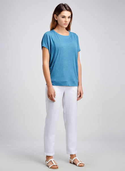 Linen Jersey Dropped Armhole Tee