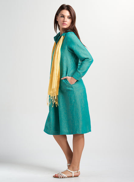 Long sleeves linen dress