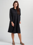 Miranda Linen Statement Shirt Dress