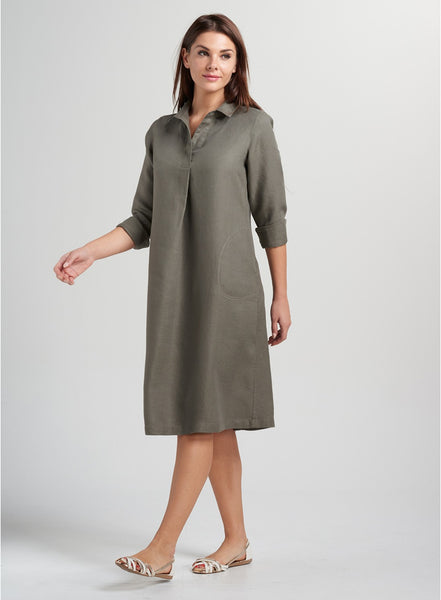 Linen dress knee length