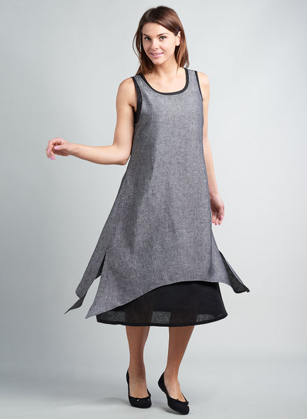 Linen dress in plus size