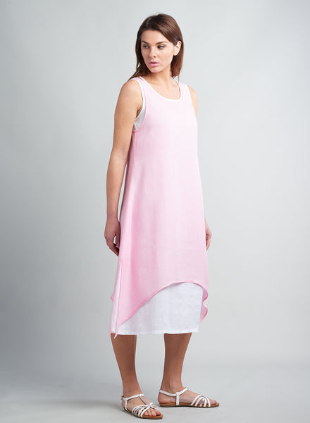 Summer linen sleeveless dress