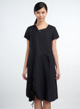 Linen Asymmetrical Multi Panel A-line Dress