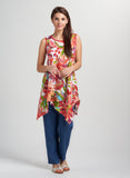 Tayla Linen All Seasons Irregular Floral Top