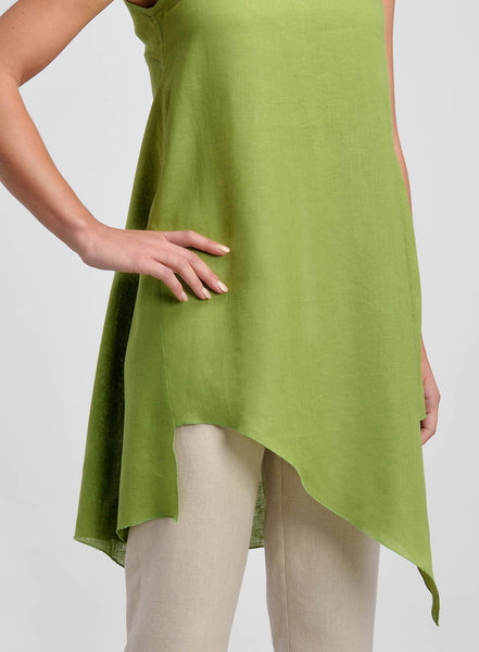 Linen tunic cover hips