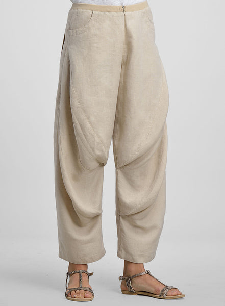 Linen Bloomer Ankle Length Pants