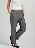 Linen Slim Leg Ankle Length Pants