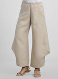 linen pants in oatmeal color