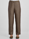 Linen straight leg trousers