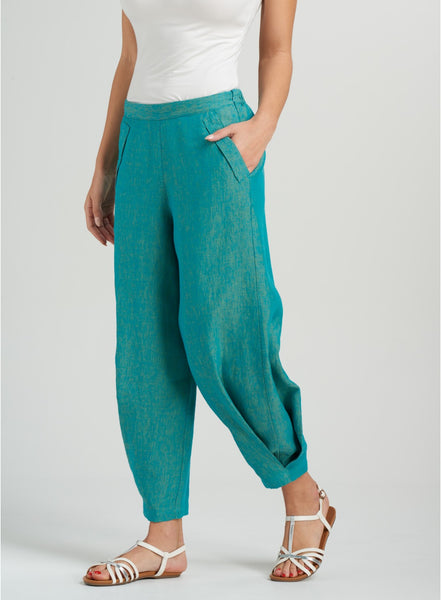 Casual linen pants in vivid colors for your summer days