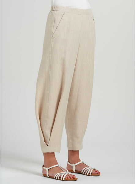 Earth tone color linen trousers