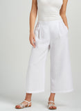 Linen white pants for summer