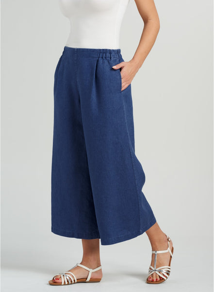 Denim Blue wide leg trousers