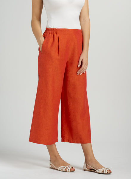 Vivid color linen pants