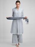 Linen double layer long tunic