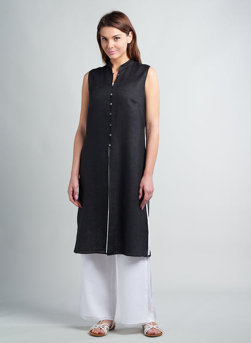 Linen Double Layer Sleeveless Tunic