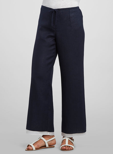 Linen double layer pants