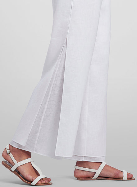 Two layers linen trousers