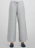 Linen Hand Stitch Details Double-Layer Pants