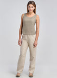 linen camisole in natural color