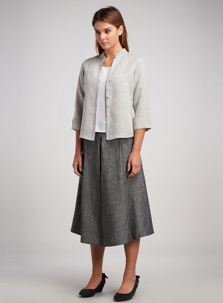 Cropped jacket with skirt work wear