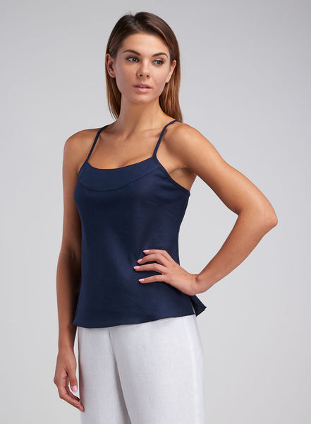 Linen Bias Cut Cami