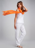 White linen camisole for the hot summer