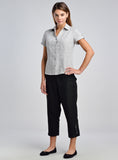 Women linen shirt to match with cropped pants