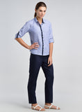 Stripe linen shirt for women