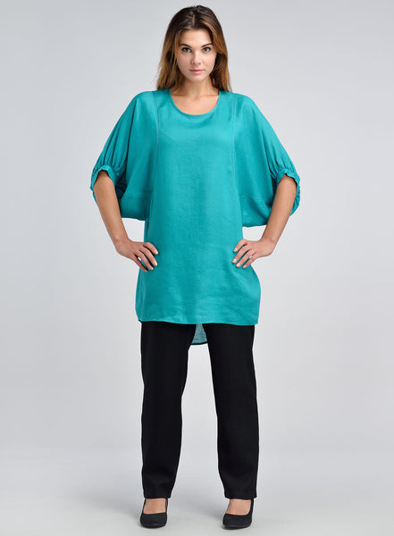 Loose fit linen long tunic