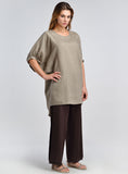 Women plus size linen tops