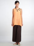 Linen Chinese Button Sleeveless Top