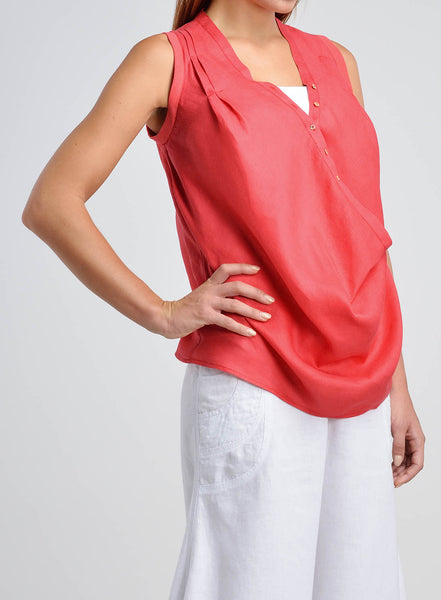 Laid-back silhouette tank top