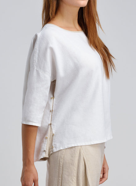 Two tone boxy top