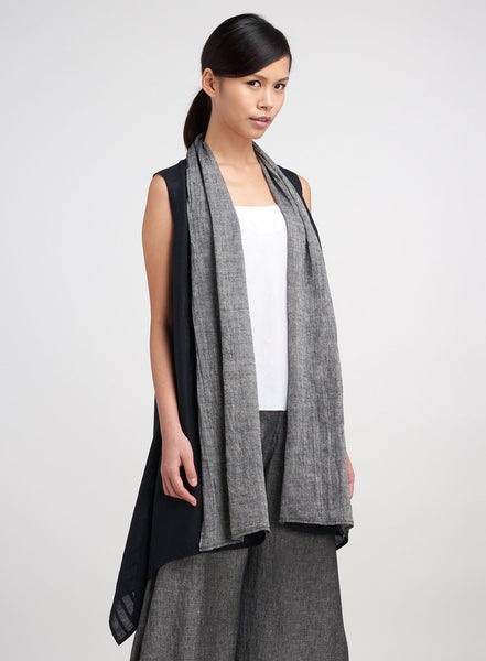 777c914501a Women s Linen Tunics - Linen Scarf Layers Sleeveless Long Vest