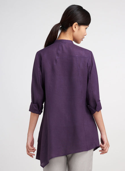 Asymmetric hemline with tonal seam detailings