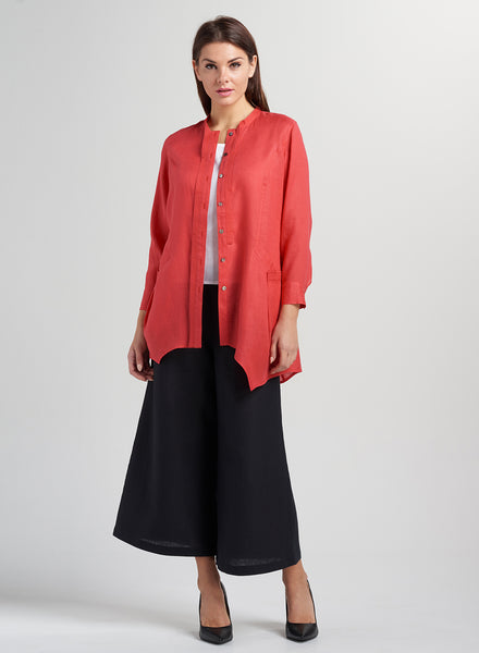 Red long tunic for working