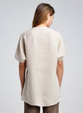 Linen V-neck Raglan Sleeve Tunic