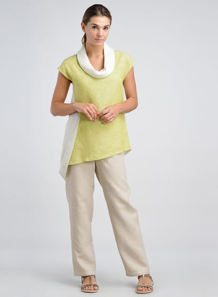 Linen capped sleeve top in variety of colors