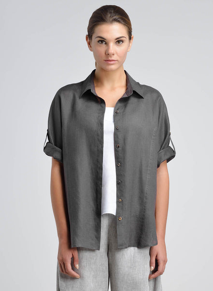 Linen Raglan Sleeve Casual Shirt