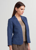 Standing collar jacket without button