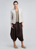 Natural linen lightweight summer jacket