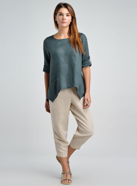 Casual and easy fit linen blouse for all seasons