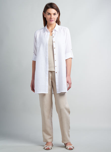 White linen shirt for women