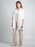 Linen Roll-up Sleeves Shirt Style Tunic