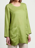 Long sleeves tunic with scooped neck