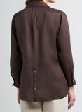 Linen Pocket Detail Long Sleeve Shirt