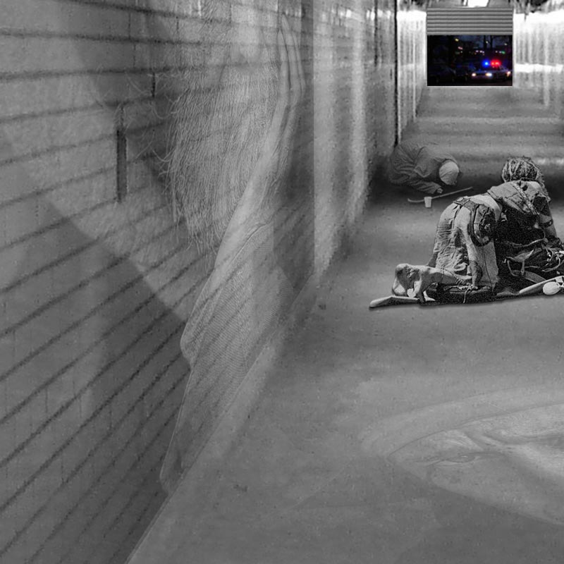 Homeless Subway Station