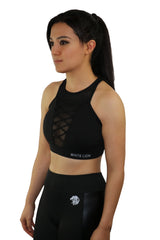 Kalon Black Sports Bra - White Lion Apparel