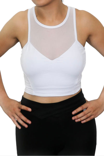 AMET WHITE SPORTS BRA - White Lion Apparel